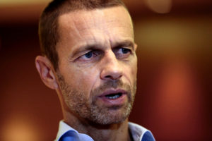 President of the Football Association of Slovenia and candidate for the UEFA presidency Aleksander Ceferin speaks during an interview with Reuters in Athens, Greece September 13, 2016. REUTERS/Alkis Konstantinidis - RTSNI92