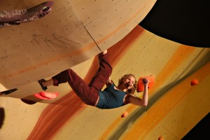 Herausforderung Hallenklettern: «Battle in the Bubble» in Boulder, Colorado. Foto: Andrew Magill (Flickr)