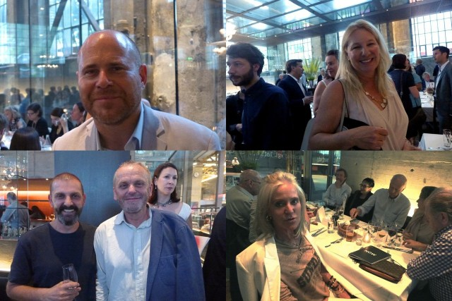 Zurich Art Dinner: Art-Basel-Chef Marc Spiegler, Swiss-Institute-NY-Präsidentin Fabienne Abrecht, Sammlerin Gitti Hug, Künstler Ugo Rondinone (mit Bart) und Sammler