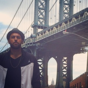Abseits des Video-Shooting: Jakebeatz, unterwegs in New York.