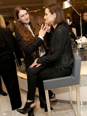 BEVERLY HILLS, CA - FEBRUARY 11: Cosmetics designer Edward Bess (L) and guests attend the Neiman Marcus Beverly Hills Grand Re-Opening of Cosmetics and Fragrance at Neiman Marcus on February 11, 2015 in Beverly Hills, California. (Photo by Rachel Murray/Getty Images for Neiman Marcus Beverly Hills)