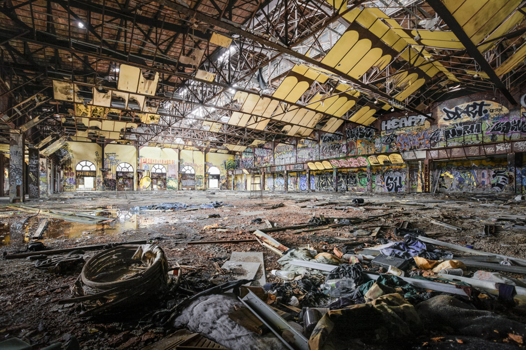 """The Gowanus """"Batcave"""" once housed machinery to power Brooklyn's rapid transit system, but it's better known for the thriving community of squatters it hosted in the early 2000s. The building is currently being renovated into artists' studios and an exhibition space."""