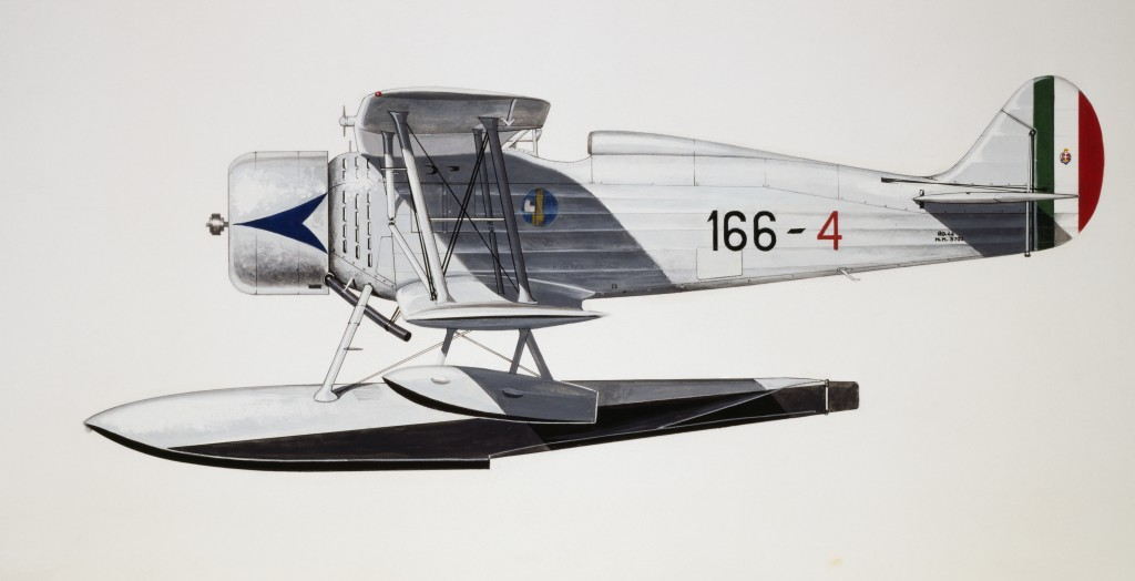 ITALY - AUGUST 02: IMAM Ro43 seaplane, 1935, Italy, drawing. (Photo by DeAgostini/Getty Images)