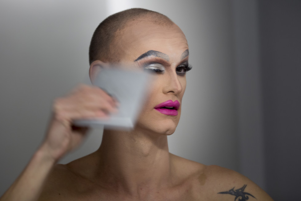 Drag Queen Ivan Blagajcevic, Zürich, 24.11.2015, © Dominique Meienberg