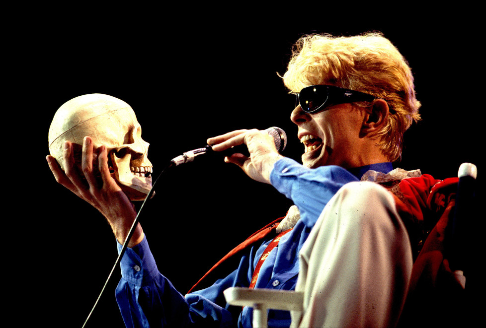 David Bowie on 8/3/83 in Chicago,Il. (Photo by Paul Natkin/WireImage)