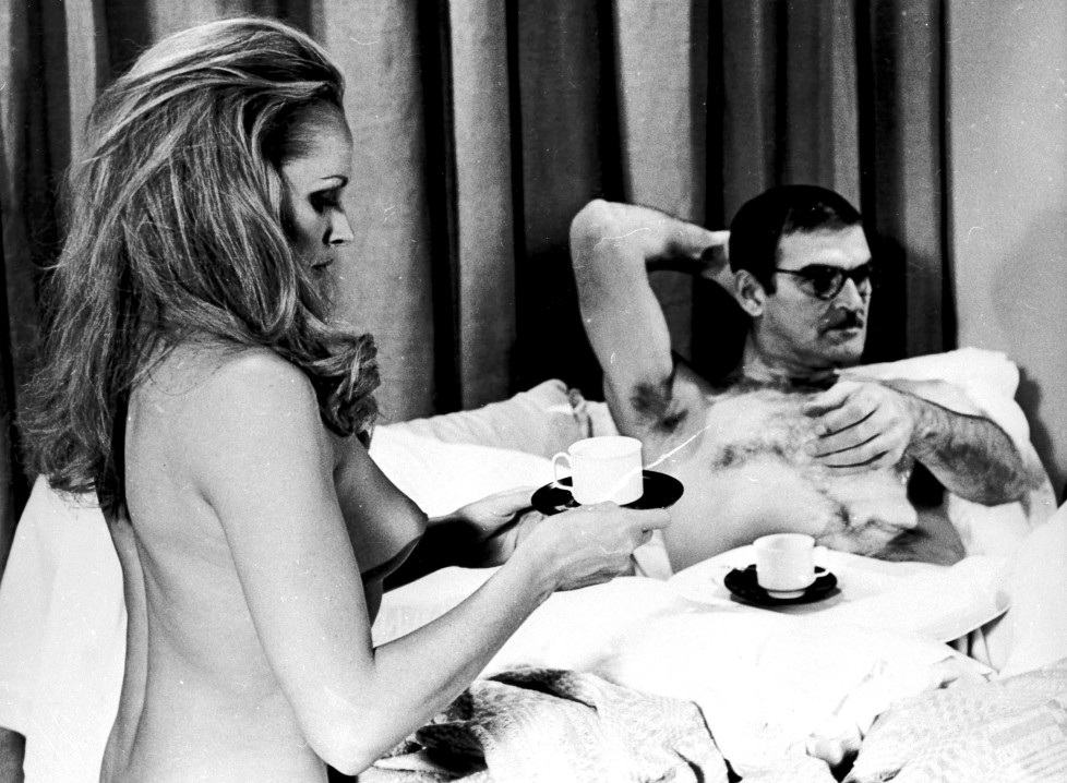 "Mandatory Credit: Photo by Rex Features ( 80001A ) ""PERFECT FRIDAY"" WITH URSULA ANDRESS + STANLEY BAKER - 30/12/70 (FOTO:DUKAS/REX)"