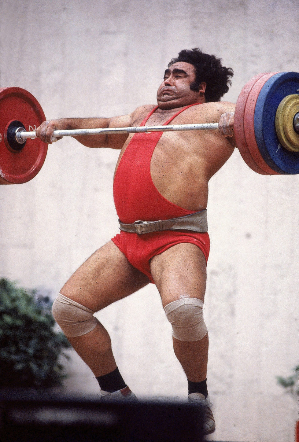 UNSPECIFIED - JULY 19: Weightlifting: 1980 Summer Olympics, USR Vasily Alexeyev in action during +242,5 lb event, Moscow, USR 7/19/1980--8/3/1980 (Photo by Jerry Cooke/Sports Illustrated/Getty Images) (SetNumber: X24706 TK7 R6 F17)