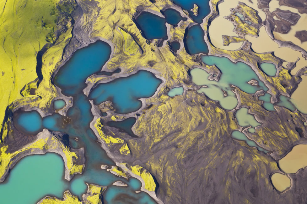 Aerial view of Iceland