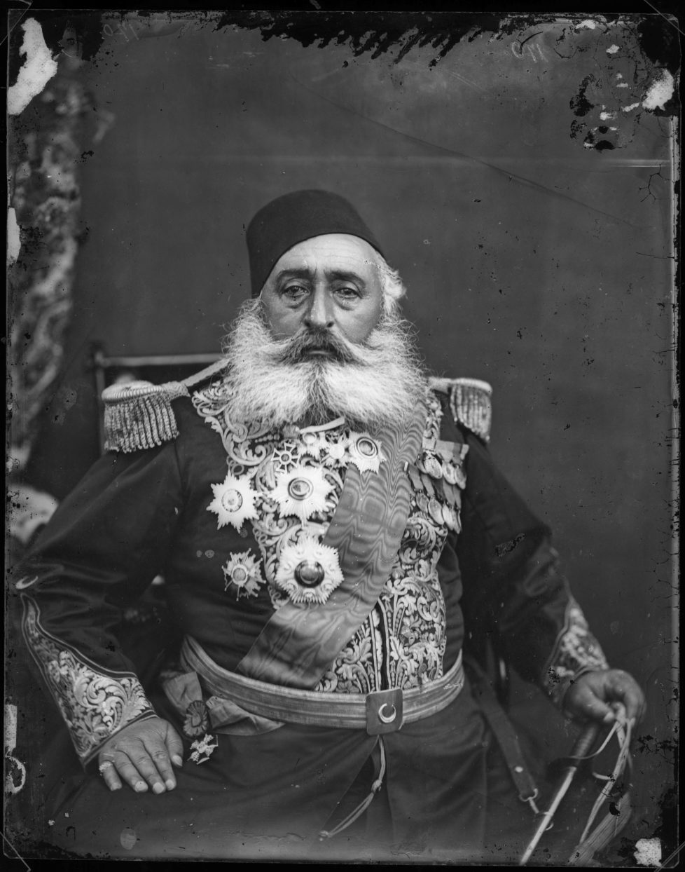 Ismail Pasha, 1875, Pietro Marubi, wet plate © Marubi National Museum of Photography, Shkodër