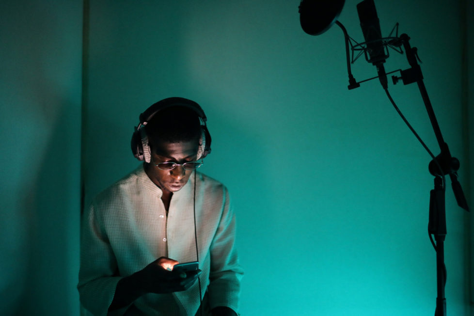 "Rapper Ichon records a song at a studio in Montreuil, France, August 28, 2016. REUTERS/Joe Penney SEARCH ""CREATIVE BANLIEUE"" FOR THIS STORY. SEARCH ""WIDER IMAGE"" FOR ALL STORIES.?THE IMAGES SHOULD ONLY BE USED TOGETHER WITH THE STORY - NO STAND-ALONE USES."