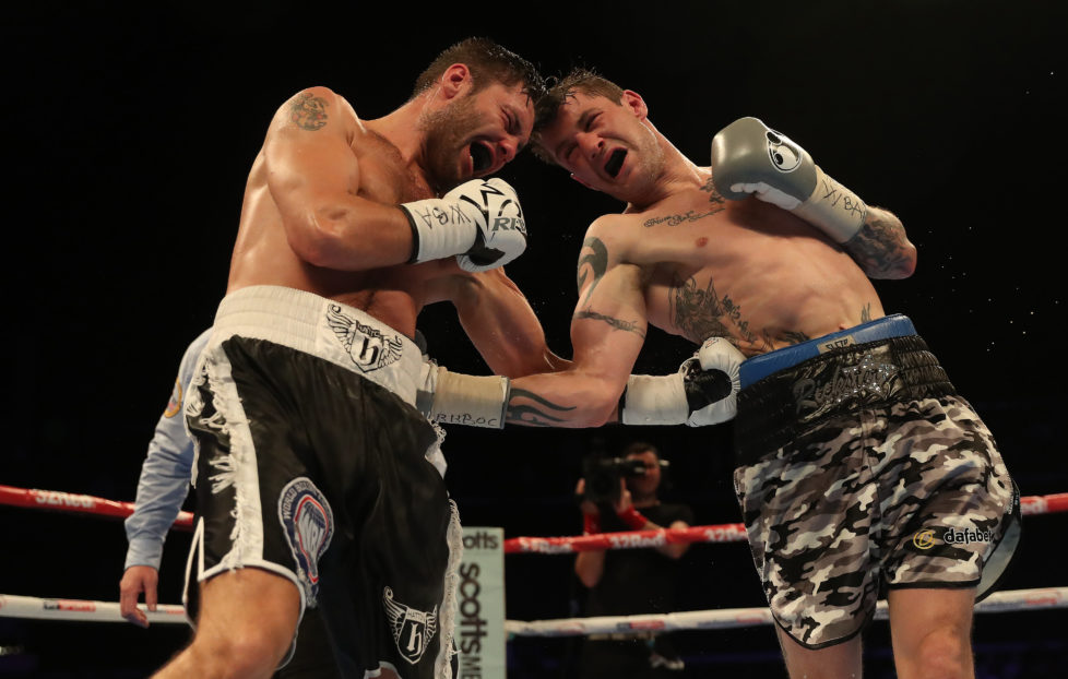 GLASGOW, SCOTLAND - OCTOBER 07: Ricky Burns defends his WBA World Super-Lightweight title against Kiryl Relikh at The SSE Hydro on October 7, 2016 in Glasgow, Scotland. (Photo by Ian MacNicol/Getty Images)