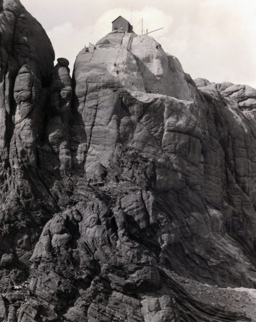 Small Building on Mount Rushmore (Photo by George Rinhart/Corbis via Getty Images)