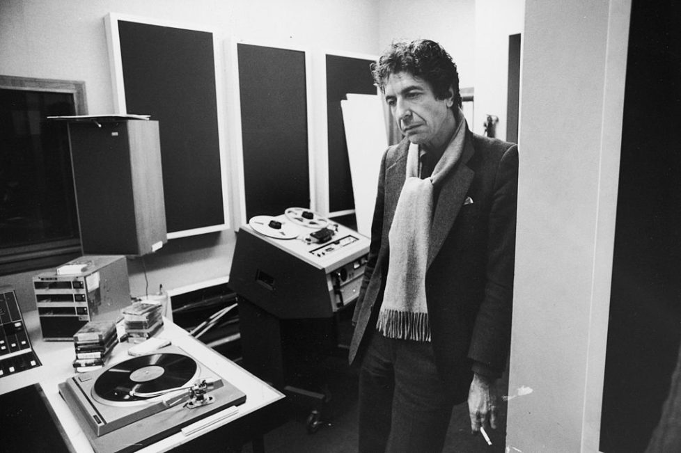 Singer/Songwriter Leonard Cohen in recording studio. (Photo by Ian Cook/The LIFE Images Collection/Getty Images)